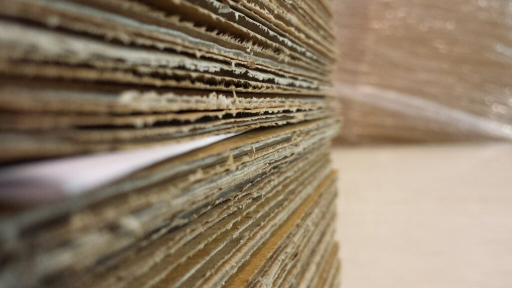 stacked paper fiber